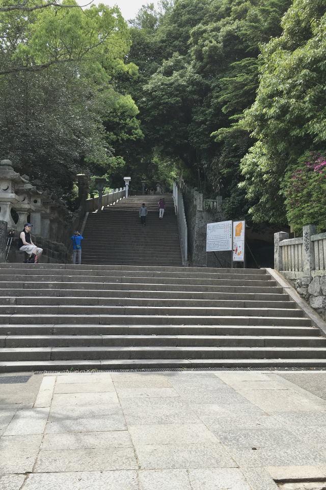 黒門脇の階段