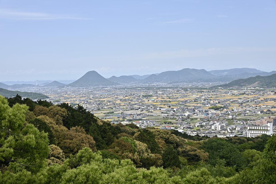 展望台からの讃岐平野